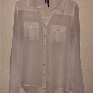 🎉White Lightweight Button Down, Size Large